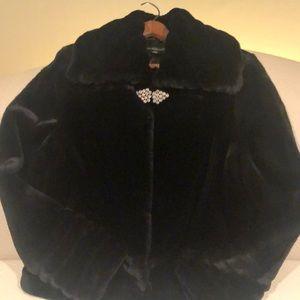 NWOT Mink looking velvety evening jacket